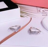 Fashion Women 925 Sterling Silver Rings Jewelry Flower Crown Bowknot Heart Style Ring For Women Jewelry