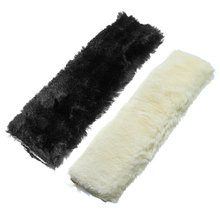 New car styling wool plush seat safety belt cover shoulder neck pad pillow for child or Adult