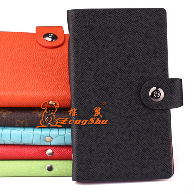 ZS Card package folded buckle long design men's Card Holders High capacity lady's card bag wallet