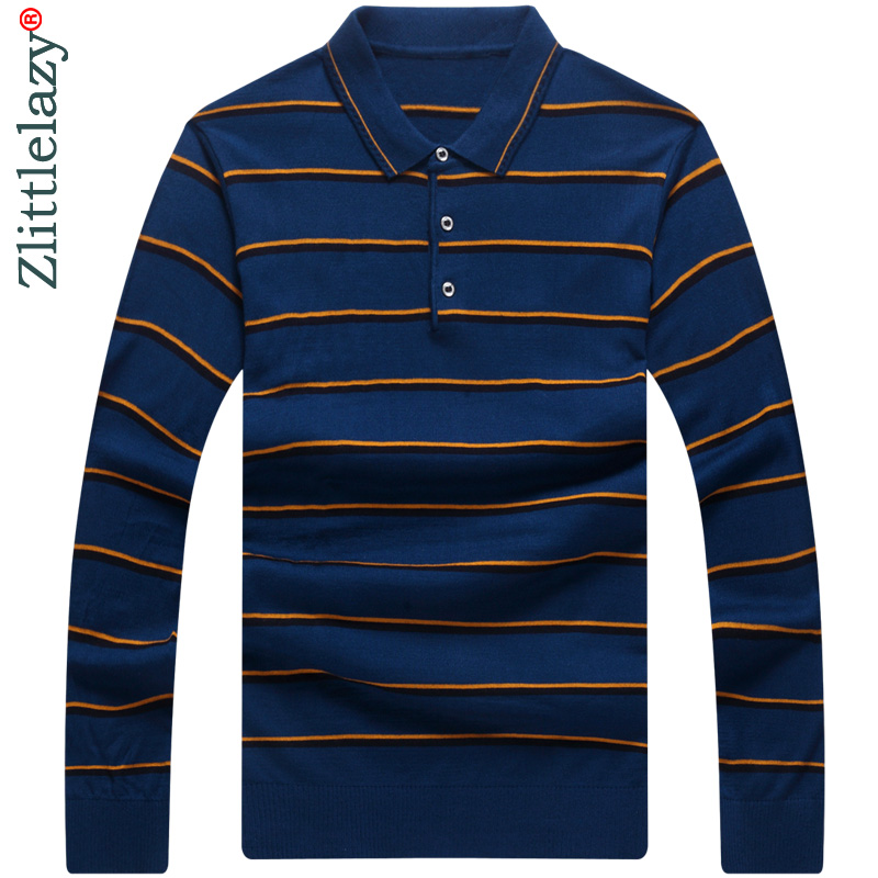 2018 long sleeve striped   polo   shirt men cotton streetwear   polos   shirts mens dress tee shirt poloshirt camisa pol clothes 7667