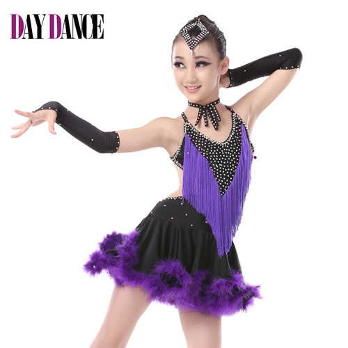 37d9fc4d9 Free Shipping Girl Latin Salsa Tango Rumba Ballroom Dance Dress ...