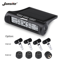 Jansite Smart Car TPMS Tyre Pressure Monitoring System New Upgrade Display Mode Solar Power+USB Charging Real time Monitoring