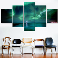 5 Panel Wall Art Canvas Modern Wall Paintings Storm Landscape Oil Painting Home Decor Canvas Prints Frameless for living room