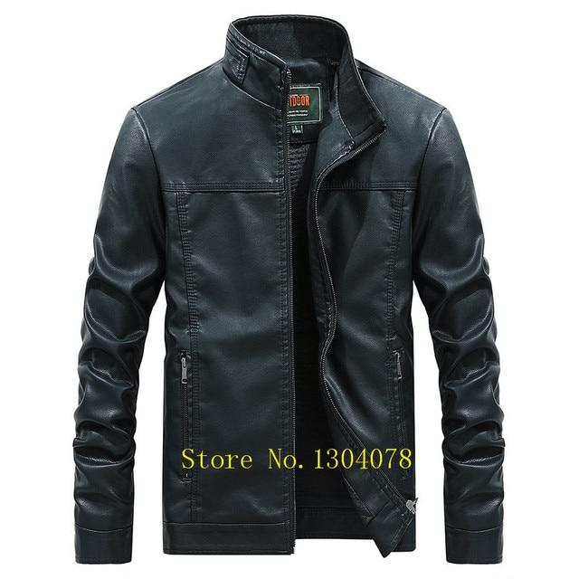 Motor   biker de Couro falso Homens Jaqueta Roupas jaqueta masculina couro  Tace   Shark jaqueta 3407aa533500f