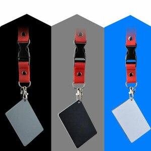 Image 4 - 3 Trong 1 8.5X5.5Cm Trắng Đen 18% Xám Cân Bằng Màu Sắc Thẻ Kỹ Thuật Số Màu Xám Thẻ Có Dây Đeo Cổ dành Cho Máy Ảnh DSLR Cân Bằng Trắng