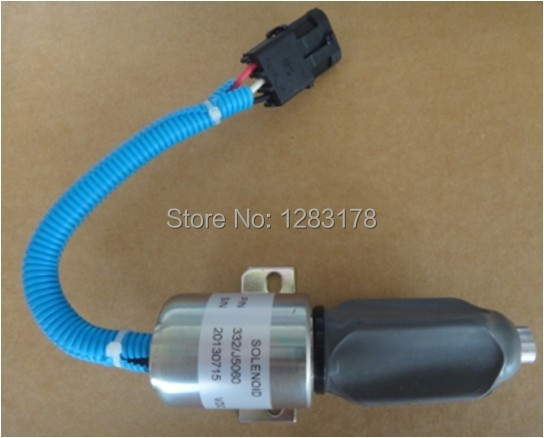 Fuel Shut off solenoid 11033561 SYNCRO-START PART NO.SA-4735-24,1756ES-24E3ULB1S5 Solenoid Valve 3924450 2001es 12 fuel shutdown solenoid valve for cummins hitachi
