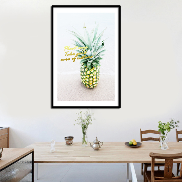 High Square Watercolor Plants Poster Canvas Modern Wall Plant Art Abstract Living Room Home Fa693