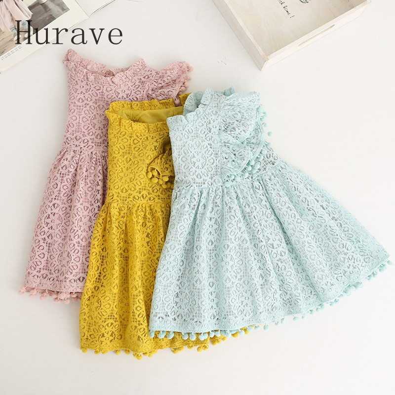 Hurave-2017-Summer-girls-dress-lace-dress-for-kids-clothes-fashion-tassel-dresses-princess-children-summer-vestidos-2