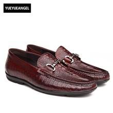 Осень новинка мода круглый носок Слипоны мужские свадебные туфли Мужская обувь из натуральной кожи Официальные ботинки Sapatos De Casamento