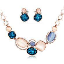 Statement Fashion Women brand Necklaces light of the arctic Rhinestone crystal Necklaces & Pendant Earrings Jewelry Sets & More