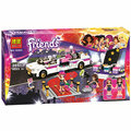278Pcs Friends Pop Star Limo Building Kit Sets Legoelieds Friends For Girl Blocks Girl Friends Toys SY382 Lepin Toys