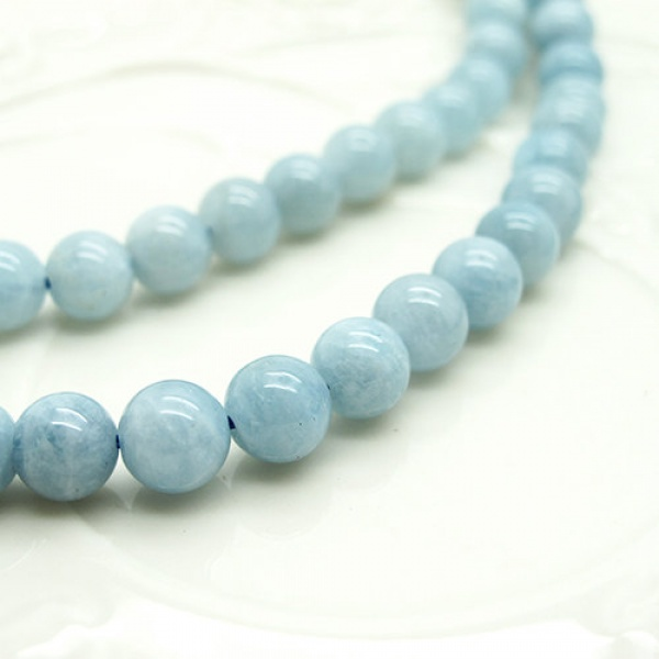Lovely Free Shipping Natural Stone Light Blue 6mm Aquamarin Beads For Jewelry  Making DIY Bracelet Necklace Design