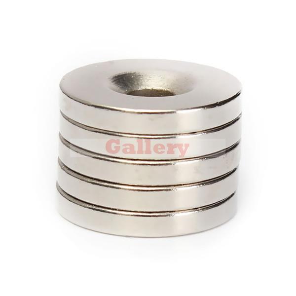 Iman Neodimio Neodymium Magnet 10 Pcs Lot N50 Strong Round Countersunk 20x3mm Rare Earth Hole 5mm Neodymium Magnet Generator