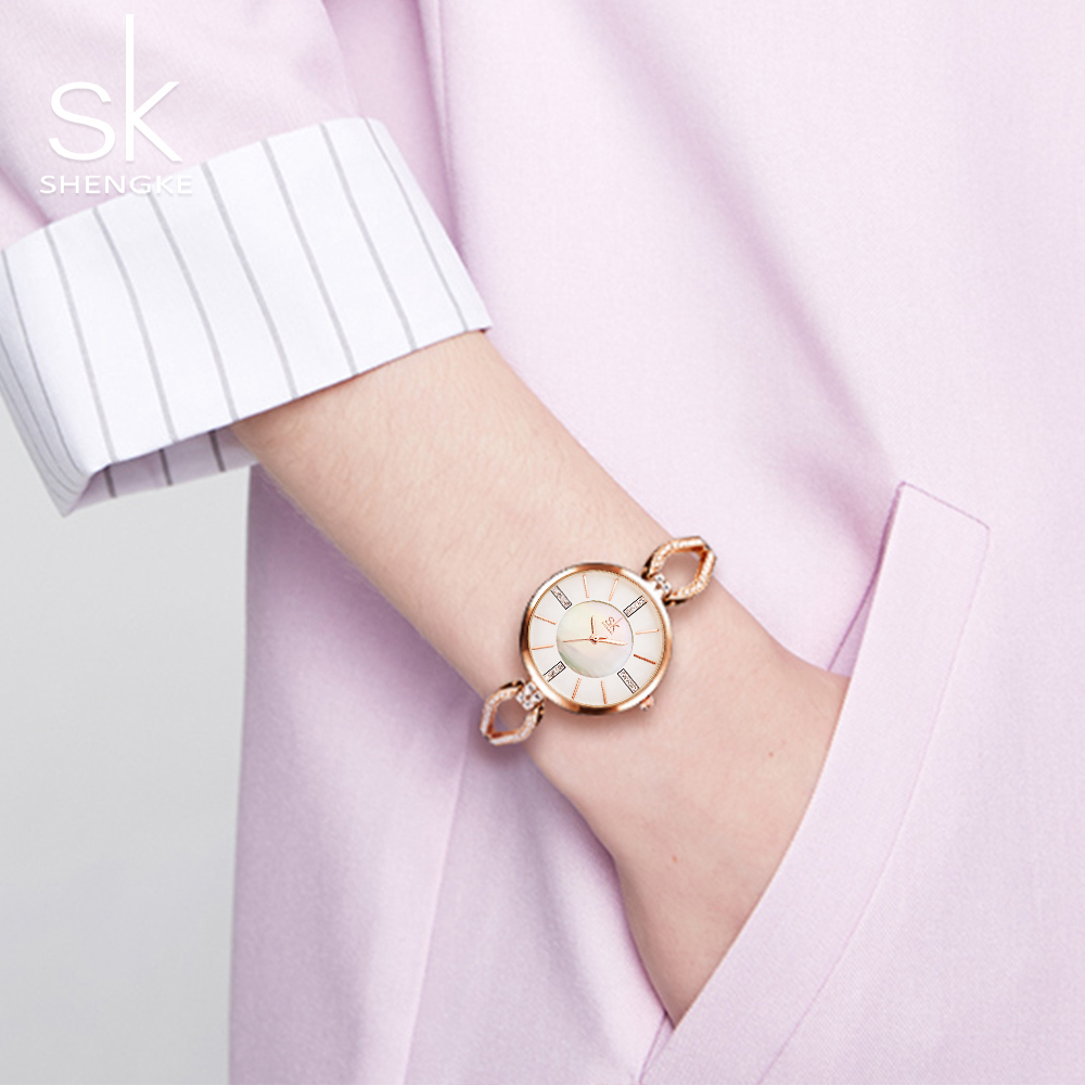 Shengke Luxury Brand Women Watches Diamond Dial Bracelet Wristwatch For Girl Elegant Ladies Quartz Watch Female Dress Watch SK цена 2017