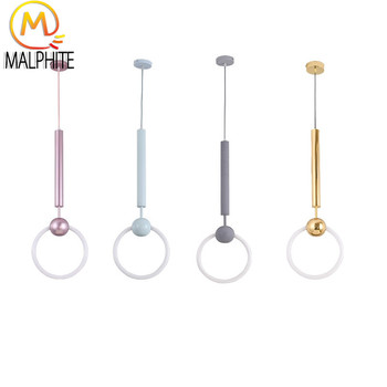Modern Pendant Light for Living Room Pendant Lamp LED Ring Bedroom Hanging Kitchen Lighting Fixtures Home Decor Luminaires