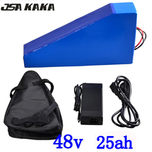48V lithium battery pack 48V 25AH electric bike battery 48V 25AH lithium ion battery with 54.6V 2A charger+free bag duty free цена