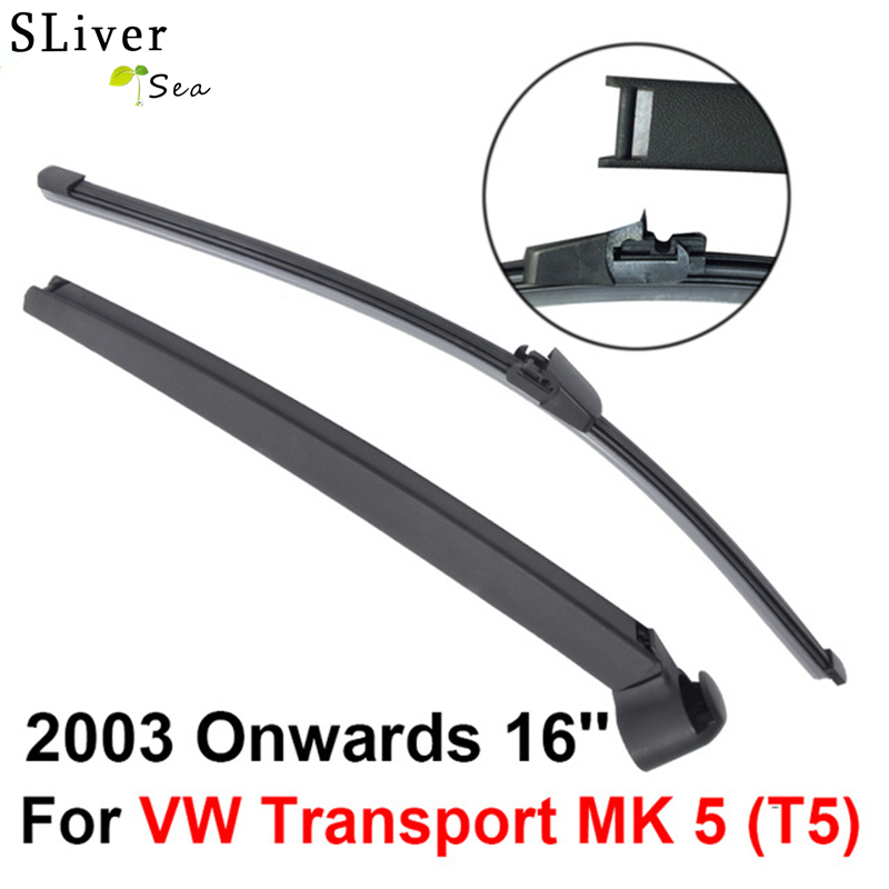Rear Windscreen Wiper and Arm For VW Transport MK 5 (T5) 2003 Onwards 16 4 door VAN High Quality Iso9000 Natural Rubber