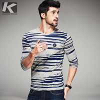 New 2016 Sping Fashion Mens Casual Striped T Shirts Long Sleeve Brand Clothing Man Slim Fit