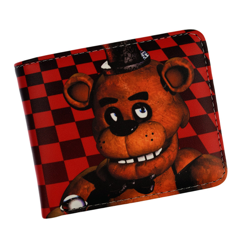 Anime Cartoon HASP Open Three Flod Wallet  Five Nights At Freddy`s Wallets For Young