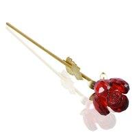 WR 24 k Or Plaqué Rouge Cristal Rose Décoration De Mariage Forever Love Home Decor Fleur pour Petite Amie Cadeaux De Noël