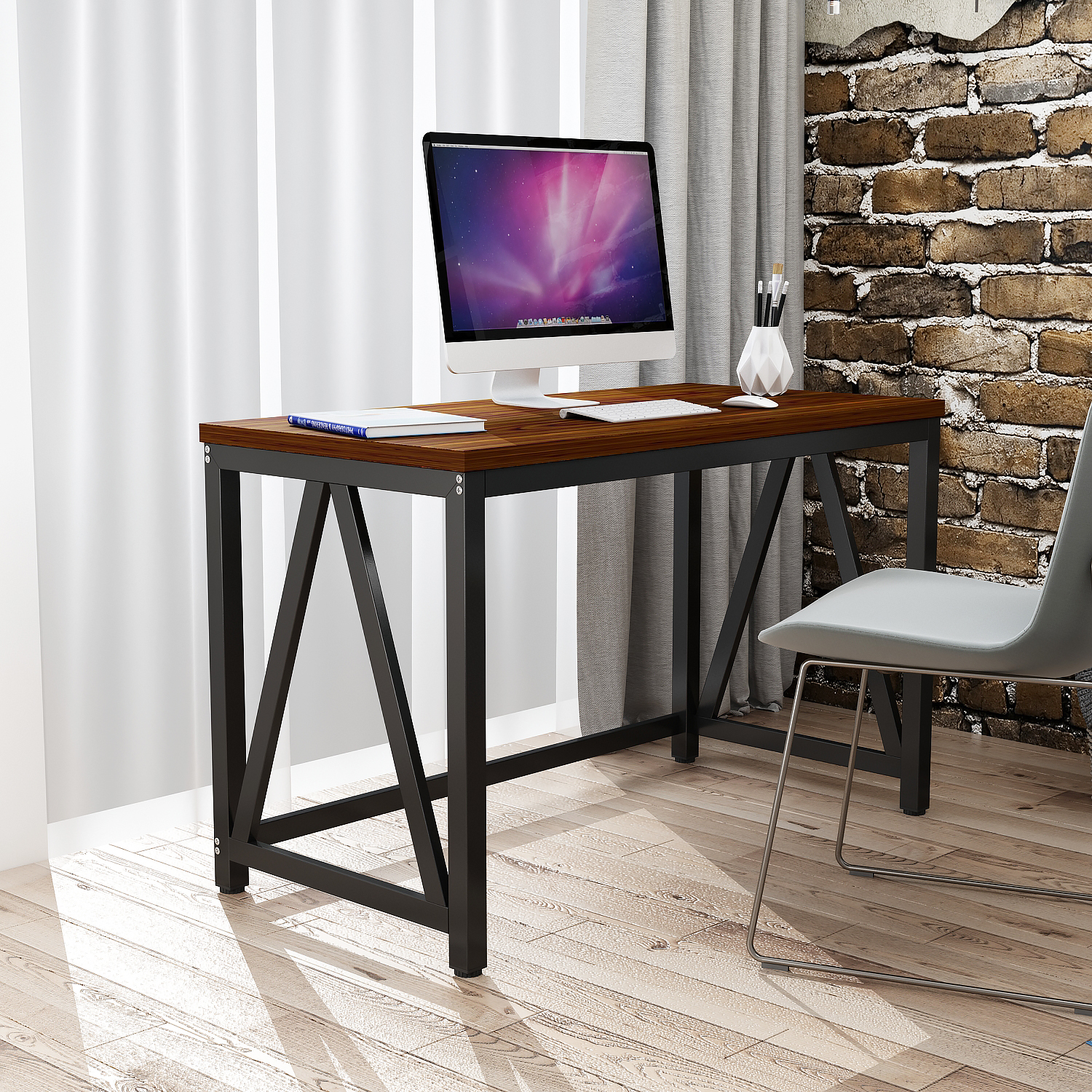 - Large Modern Computer Table Writing Desk Workstation For Home And