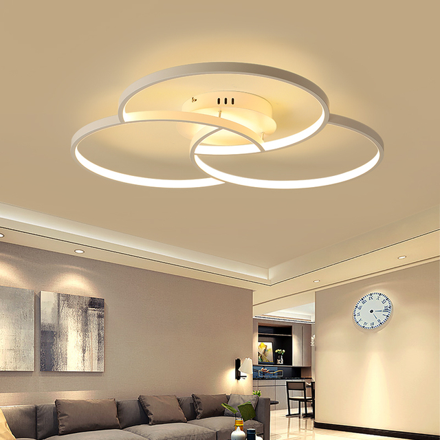 Modern LED Ceiling Lights Aluminum Remote Control Dimming Lighting Living Room Bedroom Dining Study Kitchen Lamp