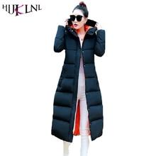 HIJKLNL 2017 Coat Parkas Women Winter Jackets Winter Long Jacket Women High Quality Warm Female Thickening Warm Parka Hood JX033