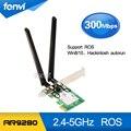 300 Mbps PCI Express PCI-e Dual band 802.11a/b/g/n Inalámbrica WiFi Tarjeta INALÁMBRICA Atheros AR9280 antenas Adaptador Para Ordenador Portátil de Escritorio MAC