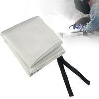1.2x1.8M Fibra De Vidro Cobertor da Soldadura Fogo Retardantes de Chama Escudo de Bronze Ilhós|Equipamentos de solda a gás| |  -