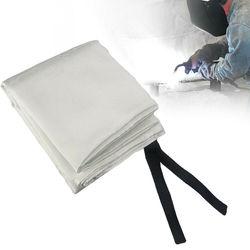 1.2x1.8M Fibra De Vidro Cobertor da Soldadura Fogo Retardantes de Chama Escudo de Bronze Ilhós