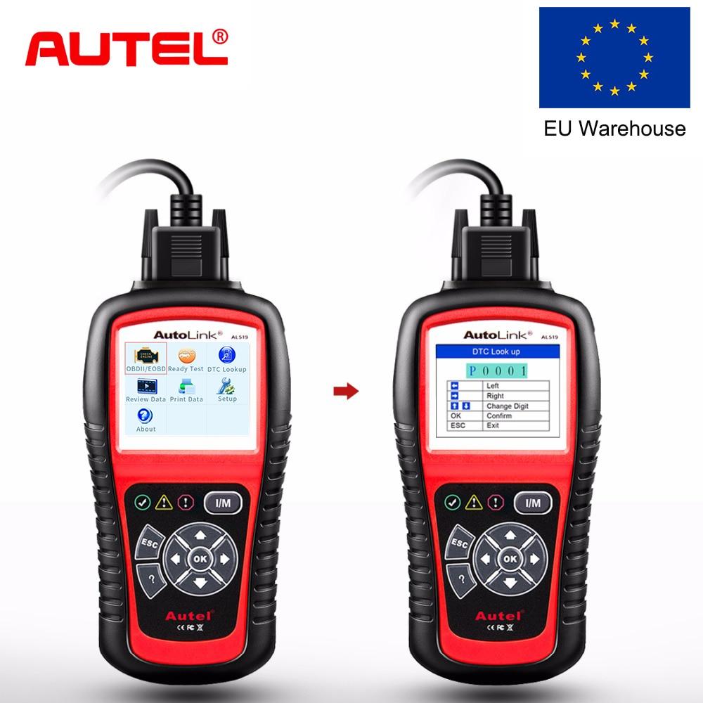 Autel Autolink Al519 Obd2 Scanner Een-klik Automotive Diagnostic Tool Auto Dtc Reader Scan Obd Ii Auto Scanner Obdii Code Reader Vloeiende Circulatie En Pijn Stoppen