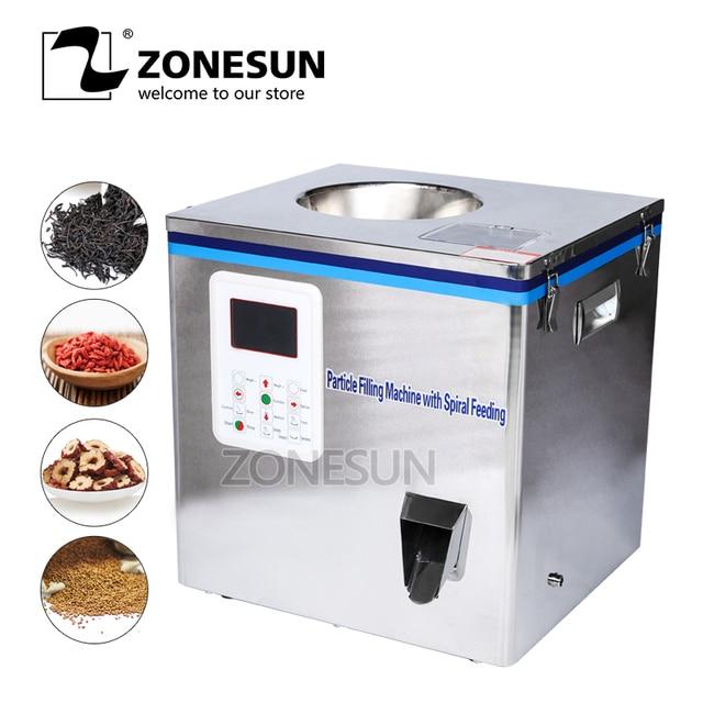 ZONESUN Tea Packaging Machine Sachet Filling Machine Can Filling Machine Granule Medlar Automatic Weighing Machine Powder Filler