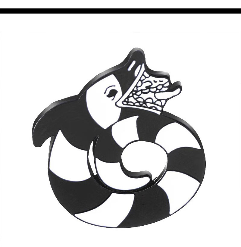 Beetlejuice Cartoon Sandworm Lydia Deetz Reptile Animal Occult Gift Black White Snake Soft Enamel Pin Snake Brooches Pins Badge Brooches Aliexpress