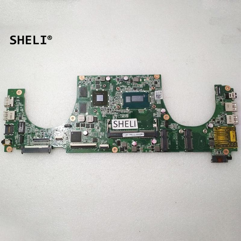 SHELI For Dell V5470 5470 laptop Motherboard I5-4210U DAJW8CMB8E1 CN-019TFD 019TFD 19TFD notebook pc mainboard GT740M 2G test ok
