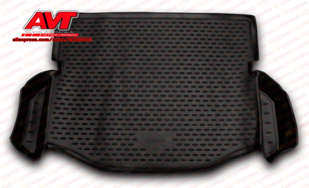 Trunk mats for Toyota <font><b>Rav</b></font> <font><b>4</b></font> <font><b>2014</b></font>- 1 pcs rubber rugs non slip rubber interior car styling accessories image
