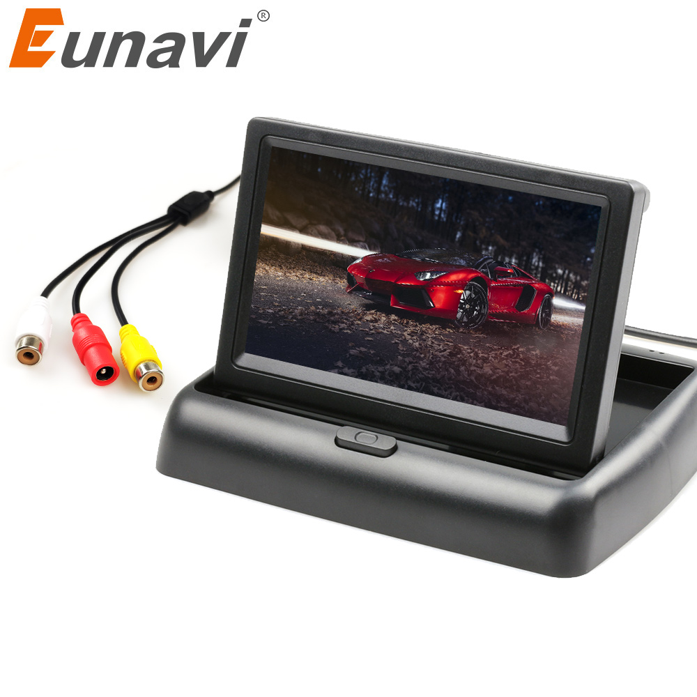 Eunavi TFT <font><b>4</b></font>.3'' Auto Parking <font><b>Monitor</b></font> <font><b>4</b></font> LED Night Vision CCD Auto Parking Camera with 2.4G Wireless Transmitter and Receiver image