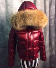 2017 new winter fashion women short down jacket luxurious oversized fur collar thicken warm white duck down coat parkas T508