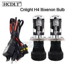 HCDLT 35 Вт биксенон H4 Cnlight Высокая Низкая балка HID Сменная Лампа накаливания H4-3 4300 K 5000 K 6000 K для фар автомобиля ксенон H4 HID комплект