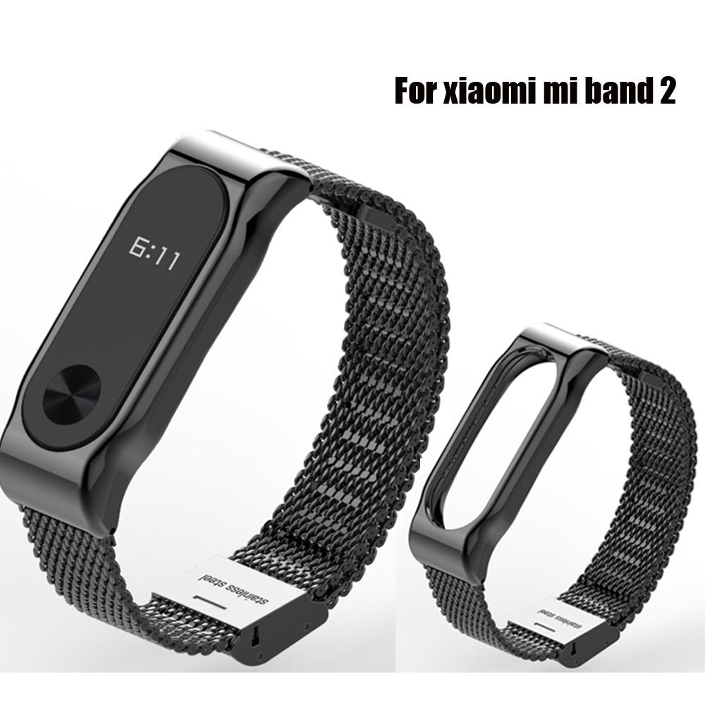 Prix pour Bracelet en métal Pour Xiaomi Mi Bande 2 Sans Vis En Acier Inoxydable Bracelet Band Mijobs pour MiBand 2 Bracelets Remplacer Accessoires Ceinture