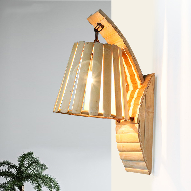 TUDA 26X48.5cm Free Shipping Southeast Asia Style Wall Lamp Creative Bamboo Craft Wall Lampbalcony Corridor Stair Cafe Wall Lamp tt tf ths 02b hybrid style black ver convoy asia exclusive