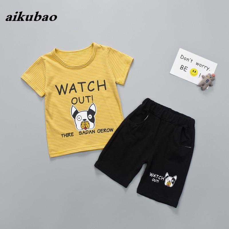 Zomer kinderkleding jongens meisjes zomer kleding T-shirt + broek 2 - Kinderkleding - Foto 5