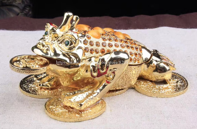 Newest Fengshui Frog Trinket Box Storage Jewelry Box Big Size Money