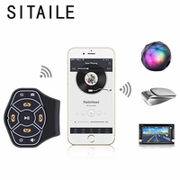 SITAILE Bluetooth BLE Car Steering Wheel Remote Control Car Kit Styling Free Hand Control Mp3 Music