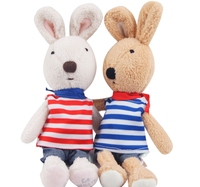 New French Brand Le Sucre 2 Color Available Bunny 30 Cm Tall Sugar Rabbit Stuffed Plush