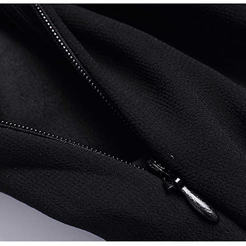 Элегантные шифоновые платья для Для женщин Лето Slash шеи платье с кружевной талией Офисные женские туфли пляжные платья в цветочек черные вечерние платья