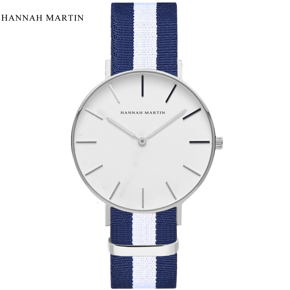 2017 Hannah Martin Brand Watches Men Women Casual Sport Clock Classical Nylon Male Quartz Wrist Watch Relogio Masculino Feminino  new top brand watches men women fashion casual sport clock classical nylon male quartz wrist watch relogio masculino feminino