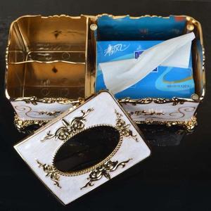 Image 5 - Moderne Plastic Tissue Box Europese Stijl Huis Tissue Container Handdoek Servet Thuis Kantoor KTV Hotel Auto Facial Case Houder