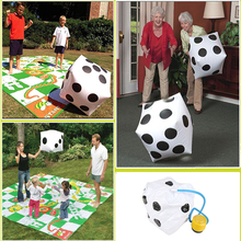 Spot Thickened Large Inflatable Dice Black and White Inflatable Props Activities 32*32cm Toys Pool Beach Party Decoration V2336