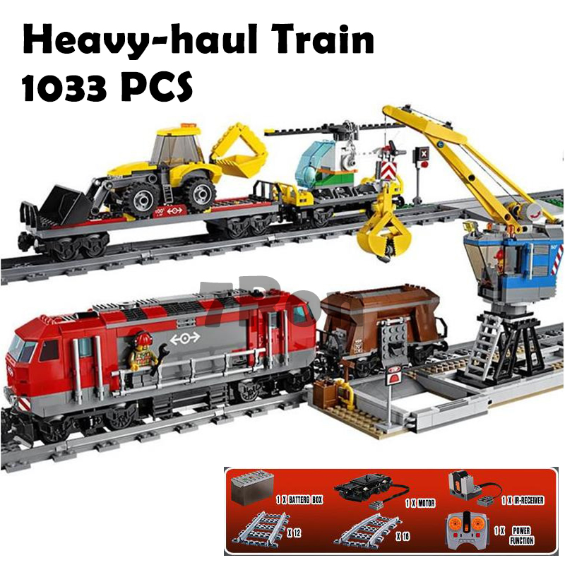 WAZ Compatible with Lego City 60098 02009 Engineering Remote Control RC Train Figure building blocks Bricks toys for children waz compatible legoe city lepin 2017 02022 1080pcs city 50th anniversary town figure building blocks bricks toys for children
