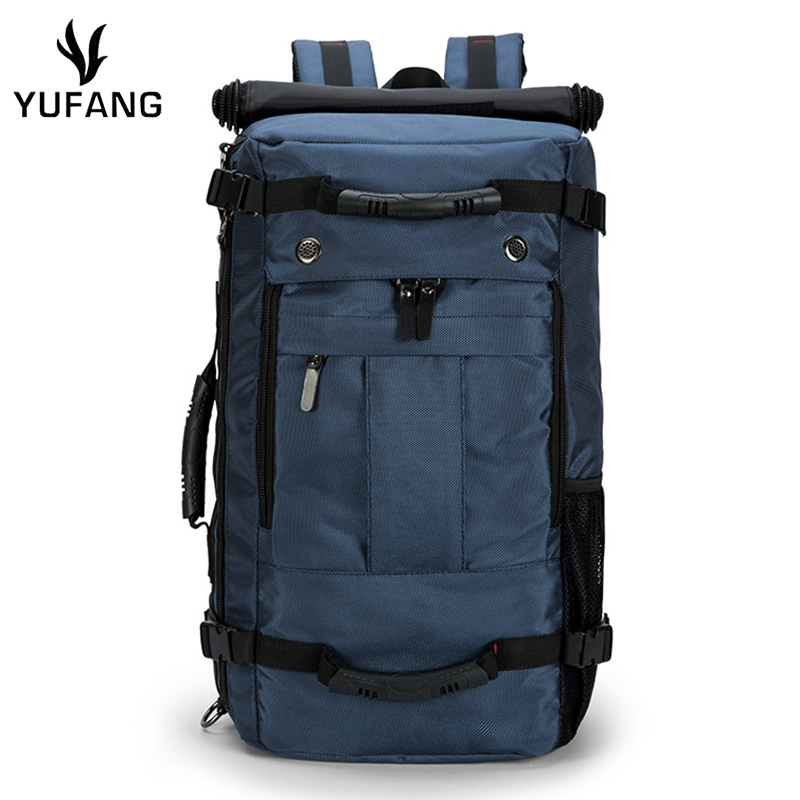 Yufang Men Travel Bags Large Capacity Luggage Backpack Travel Duffle Bags For Male Canvas Shoulder Folding Trip Backpack Vintage